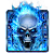 Blue Fire Skull Keyboard file APK for Gaming PC/PS3/PS4 Smart TV