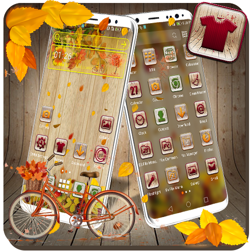 Wooden Autumn Launcher Theme Android APK Download Free By Studio Five Inc