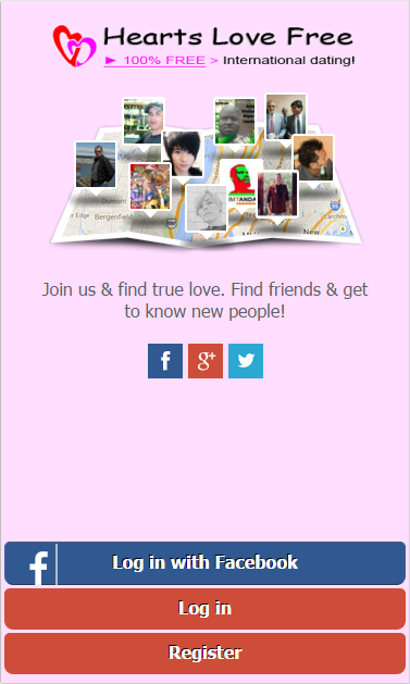 """Hearts Love Free"" dating!- screenshot"