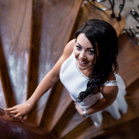 Bride by Lood Goosen (LWG Photo) - Wedding Bride ( wedding photography, stairs, wedding photographers, wedding day, weddings, wedding, brides, getting ready, wedding dress, wedding photographer, bride )