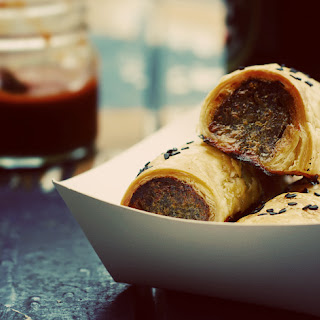 Pork Sausage Rolls with Caramelised Apple and Thyme