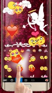 Keyboard - Cupid Romantic Lovely Free Emoji Theme - náhled