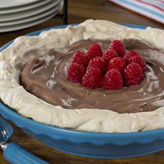 Chocolate Almond Pavlova.