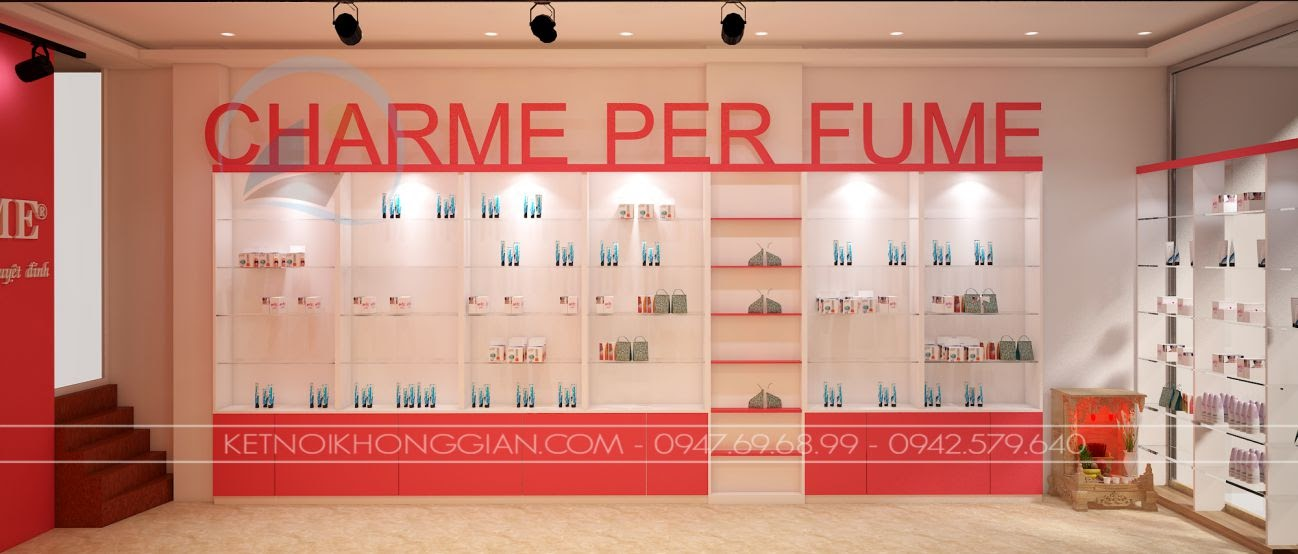 thiết kế shop nước hoa charme 5