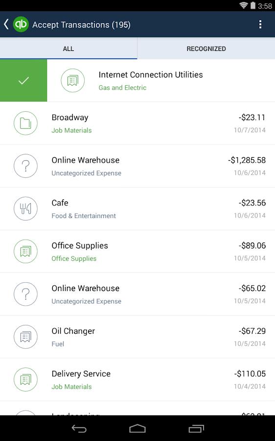 QuickBooks Online- screenshot