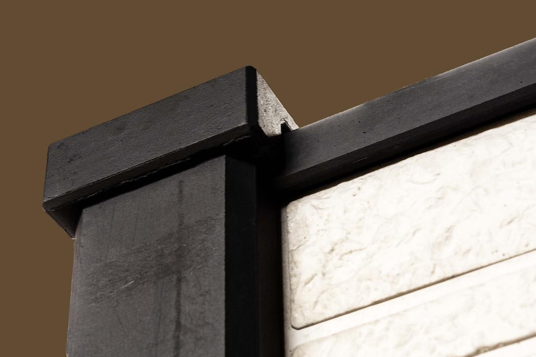 Afdekking beton omheining gecoat vlak