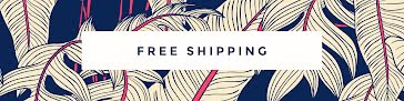 Floral Free Shipping - Etsy Shop Big Banner Template