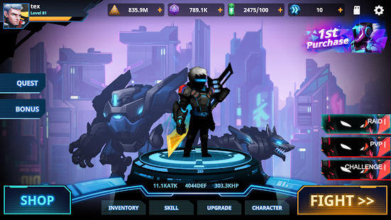 Cyber Fighters: Death of the Legend Shadow Hunter Screenshot