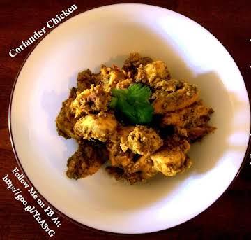 Coriander/Cilantro Chicken - Indian Style