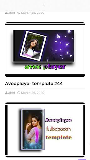 Avee Player templates Apk 1