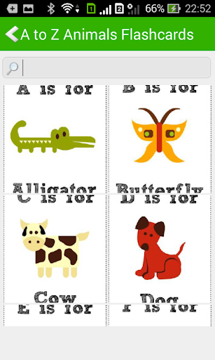 A to Z Animals Flashcards
