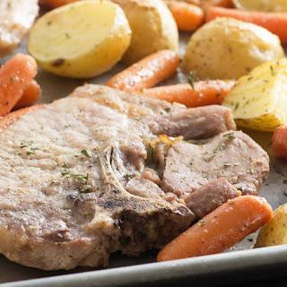 Pork Chop Ranch Sheet-Pan Dinner.