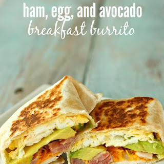 Ham, Egg, and Avocado Breakfast Burrito