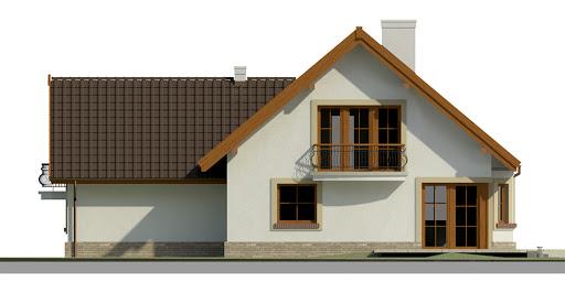 Dom przy Cyprysowej 37 - Elewacja tylna