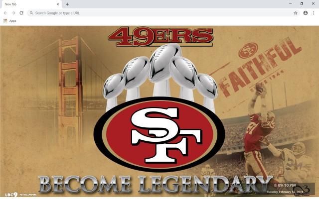 San Francisco 49ers New Tab
