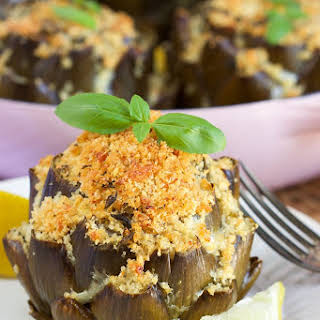 Baked Cheese Stuffed Artichoke.