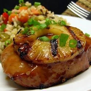 Pineapple Grilled Pork Chops.