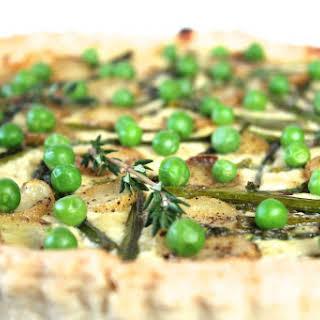Asparagus and English Pea Tart.