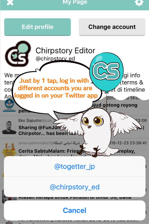 Chirpstory- screenshot