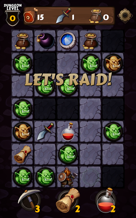 Vault Raider - casual dungeon crawler- screenshot