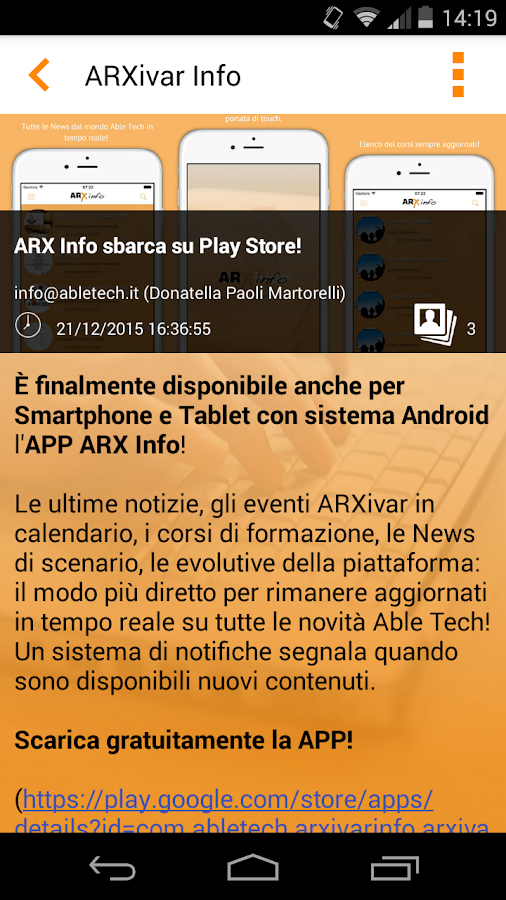 ARXivar Info- screenshot