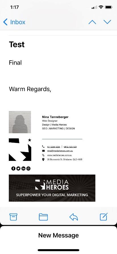 iPhone email signature two