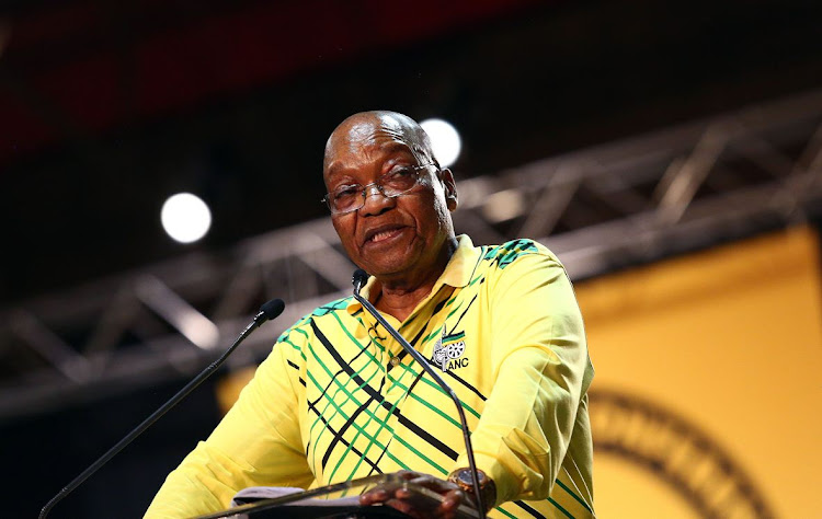 President Jacob Zuma delivers his final political report as ANC president, at the party's 54th national elective conference at Nasrec, on December 16 2017. Picture: MASI LOSI