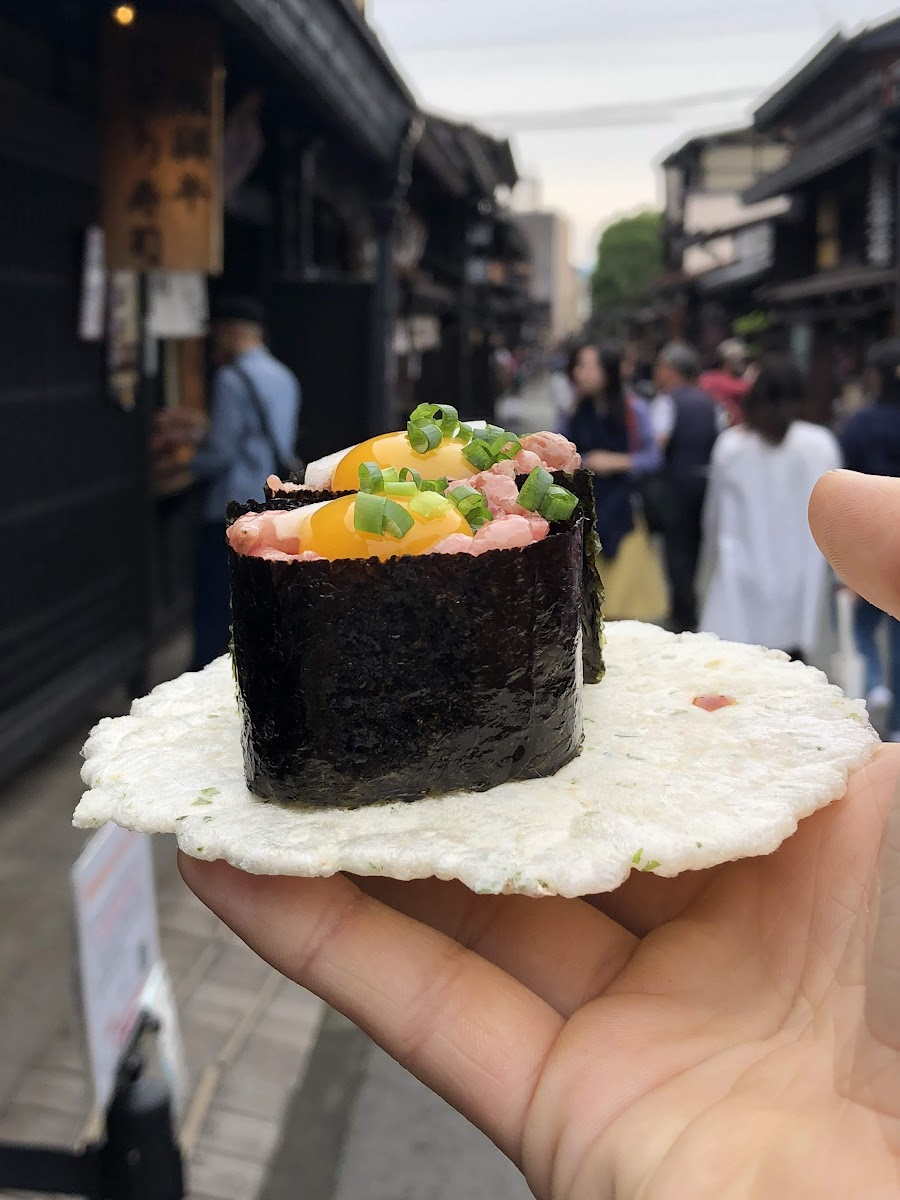 Both the weirdest and best tasting sushi I have had in Japan