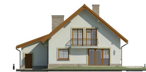 Dom przy Oliwkowej 3 H - Elewacja tylna