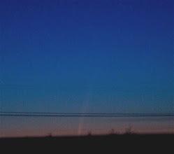 Photo: 11.1.2007 iltapäivällä komeetta on juuri laskemassa horisontin taakse
