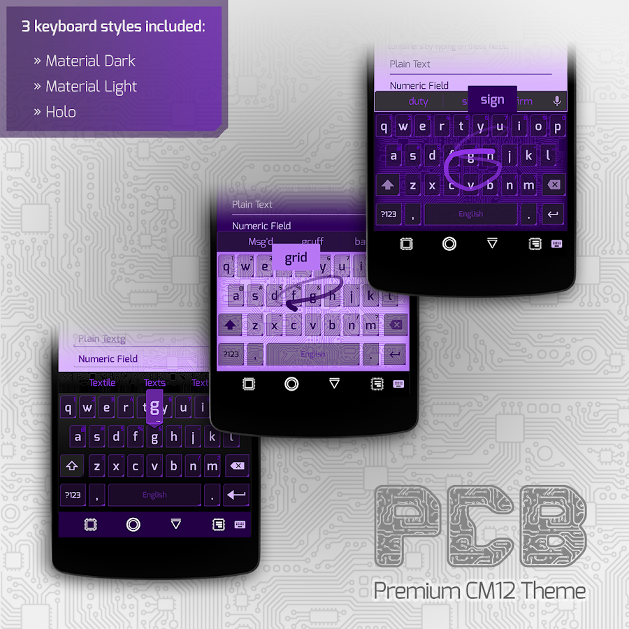 PCB Purple ⁞ CM13 Theme- screenshot