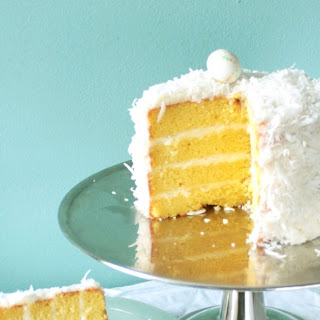Meyer Lemon Cake with Coconut Frosting!.