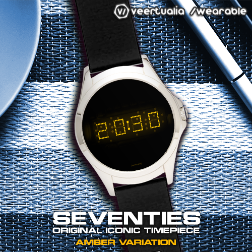Download LED watch face | Vintage | Seventies Amber MOD APK 6