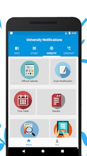 University Notifications - náhled