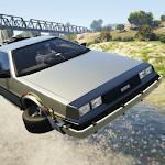 Flying Car DeLorean Simulator Icon