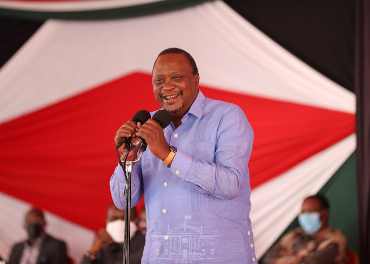 President Uhuru Kenyatta addressing more than 600 youth leaders from Central Kenya n at Sagana State Lodge.