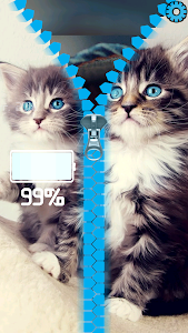 Kitten Lock Screen Zipper screenshot 3