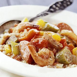 Jambalaya-Style Chicken and Shrimp