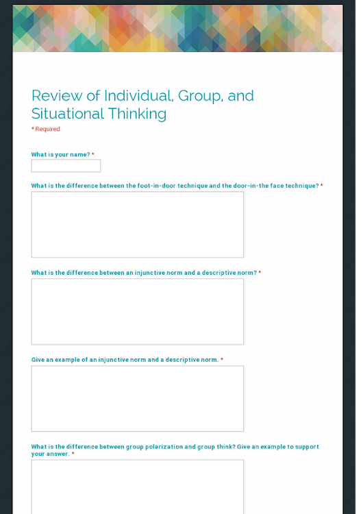 Review of Individual, Group, and Situational Thinking