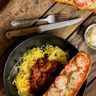 Chili Oil Garlic Baguette with Spaghetti Squash.