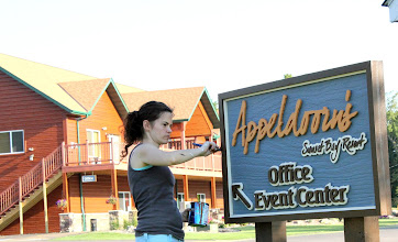 Photo: Sunset Bay Resort Mille lacs Lake Minnesota Signs by Melissa Jones of Nice Carvings