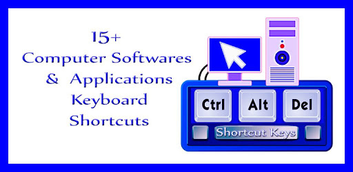 App gives complete details of all keyboard shortcuts Software category wise.