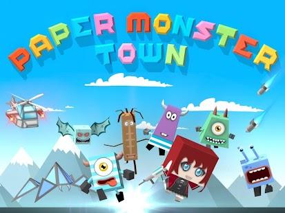 Paper Monster Town screenshot