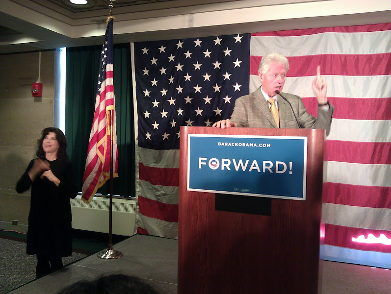 Photo: Interpreter Dawn and Bill Clinton. What I wouldn't give to be able to say I interpreted for a former President of the United States!