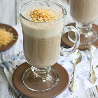 Healthy Coffee Smoothie with Toasted Coconut