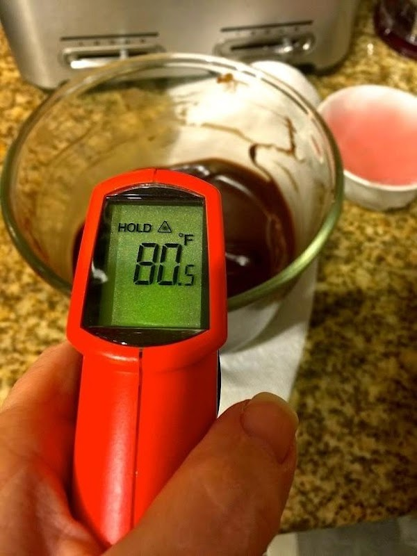 Let mixture cool to 80 degrees. Test with an instant-read thermometer.