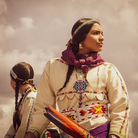 Remembering the Past by Jade Snell - People Portraits of Women ( native american, native american clothing, american indian, native, culture, native woman, indian )