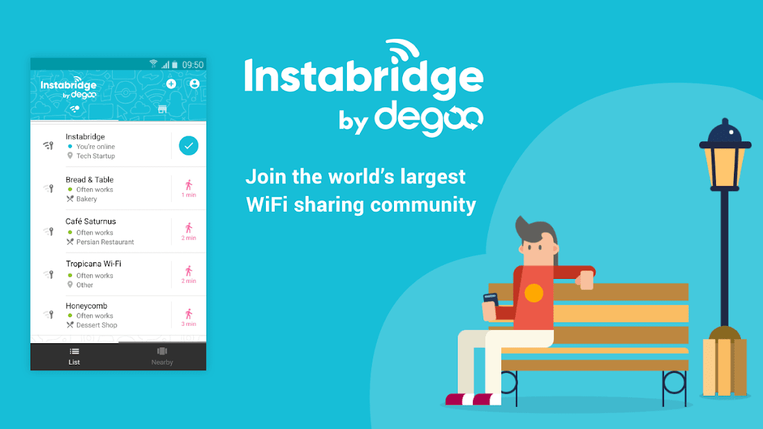 Free WiFi Passwords & Hotspots by Instabridge Android App Screenshot