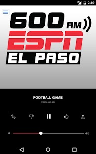 600 ESPN EL PASO El Paso Sports Radio (KROD)- screenshot thumbnail
