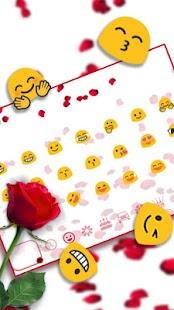 Garnet Petals Keyboard Theme - náhled